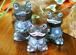アジアン雑貨バリ♪バリ島のお祈りカエルファミリーセット♪おしゃれインテリアエスニックオブジェ動物ウッド460