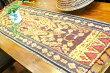 アジアン雑貨バリ♪ココスティックイカットのテーブルセンター(イエローレッド)♪【送料無料】おしゃれインテリアエスニックタペストリーテーブルランナー