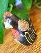 アジアン雑貨バリ♪ブラウンニワトリファミリーS♪おしゃれインテリアエスニック動物木彫りオブジェ