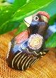 アジアン雑貨バリ♪ブラウンニワトリファミリーL♪おしゃれインテリアエスニック動物木彫りオブジェ