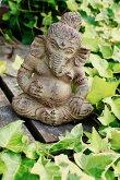 アジアンバリ雑貨♪ガネーシャ像♪おしゃれインテリアエスニック福の神オブジェ置物