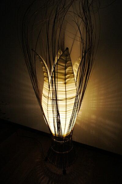 間接照明 スタンドライト フロアライト 照明器具 インテリア照明 ♪チューリップケーパランプ(L)♪ アジアン照明 バリ おしゃれ フロアスタンド エスニック リゾート リビング ダイニング 寝室