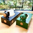 アジアン バリ 雑貨 ♪バリアニマルティッシュBOX(ネコ・カエル)♪ インテリア おしゃれ エスニック ティッシュケース ティッシュボックス 木製 アニマル