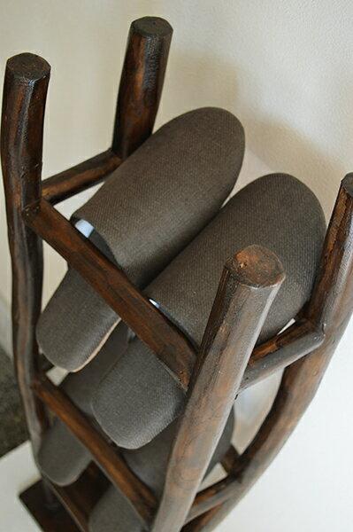 収納家具ウッドラックディスプレイラックアジアン家具木製バリ♪ARチークの根のスリッパラック♪おしゃれエスニックリゾートアジアンインテリアインテリア雑貨デザイン雑貨