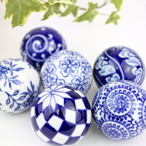 アジアン バリ 雑貨 ♪陶器の浮き玉L♪ インテリア おしゃれ エスニック 置き物 オブジェ