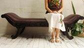【4月中旬入荷予定】アジアン家具 バリ ♪パラマウント ソファ♪ 【送料無料】【YAYAPAPUS】 ソファ ベンチ 2人掛け チーク材 木製 猫足 エスニック
