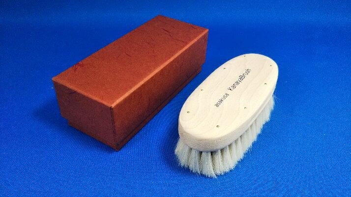 カナヤブラシ手植え靴ブラシ(山羊毛)かなやブラシかなや刷子靴磨きシューケア