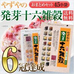 【送料無料】【D】雑穀米 十六穀米やずやの発芽十六雑穀 【おまとめセット】 25g×45小袋入…