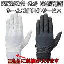 【送料無料メール便発送】手袋ネーム 刺繍サービス!!ミズノ グローバルエリート 学生対応 守備用手袋 1ejed120(左手用)※代引きの場合は送料がかかります