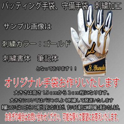 【NEWモデル、送料無料(メール便配送)】手袋刺繍サービス!!ミズノバッティング手袋フランチャイズD-Edition両手用(1EJEA104)