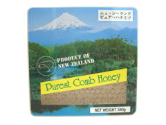 蜂の巣をそのままカッティングした、蜂蜜たっぷりのコームハニーですニュージーランド コムハ...