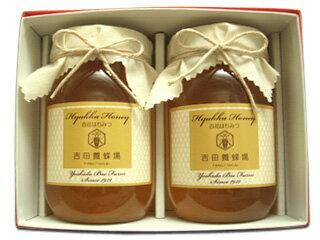 【送料無料】国産百花蜂蜜2本ギフトセット(香川県産)(出産内祝い・御歳暮・国産はちみつギフト・引っ越し祝い・お誕生日祝い・お礼・御祝いなど)【西日本産】 【楽天】