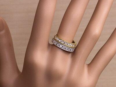 H&Cハート&キューピットダイヤモンド0.8ctリングK18(WG・PT素材対応)ハーフエタニティ・一文字・重ねつけ受注商品/Ycollectionワイコレクション/送料無料