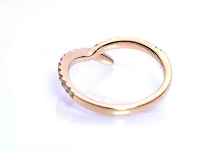 集める、重ねる喜びも・・・Y字ラインのダイヤモンド0.3ctリングK18・K18WG・K18PG/Ycollectionワイコレクション/送料無料