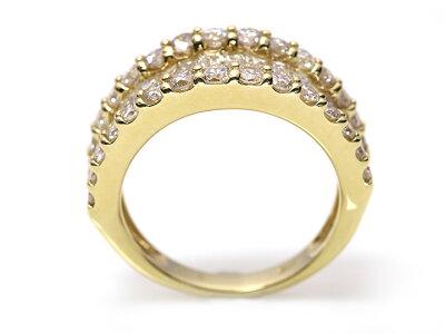 バケットダイヤ&ラウンドダイヤ合計2.00ct2カラットK18(WG・PT素材対応)リング指輪受注商品婚約・結納・誕生日祝/Ycollectionワイコレクション/送料無料