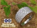H&C ハート&キューピット ダイヤモンド1.63ctびっしりパヴェ PT900リング・指輪 肉厚 ハニーホール 選...