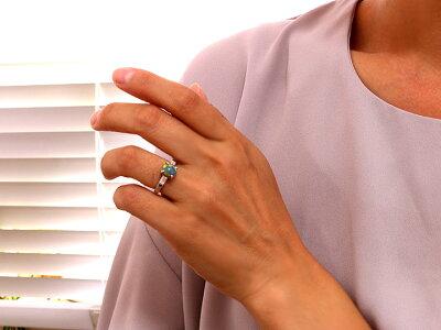 オーストラリア産絶品のブラックオパール2.02ct・PTリング指輪1点もの/Ycollectionワイコレクション/送料無料0824カード分割