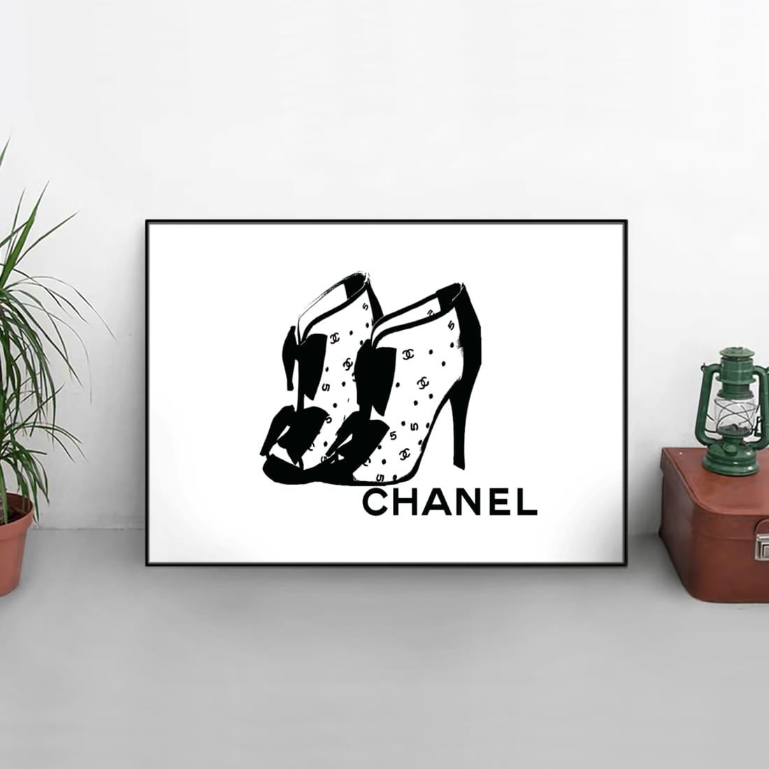 絵画, グラフィック  !! Grace cat Art CHANEL