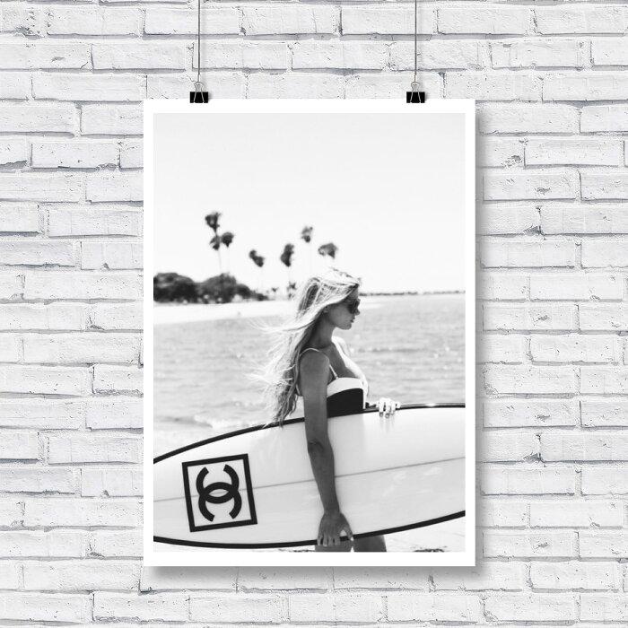 【期間限定P5倍!!+ 送料無料 】【 Grace cat Art 】サイズが選べるアートポスター / アートパネル / キャンバスパネル アート / グラフィック アート / インテリア アート / ギフト 【 オマージュモチーフ:CHANEL / シャネル 】
