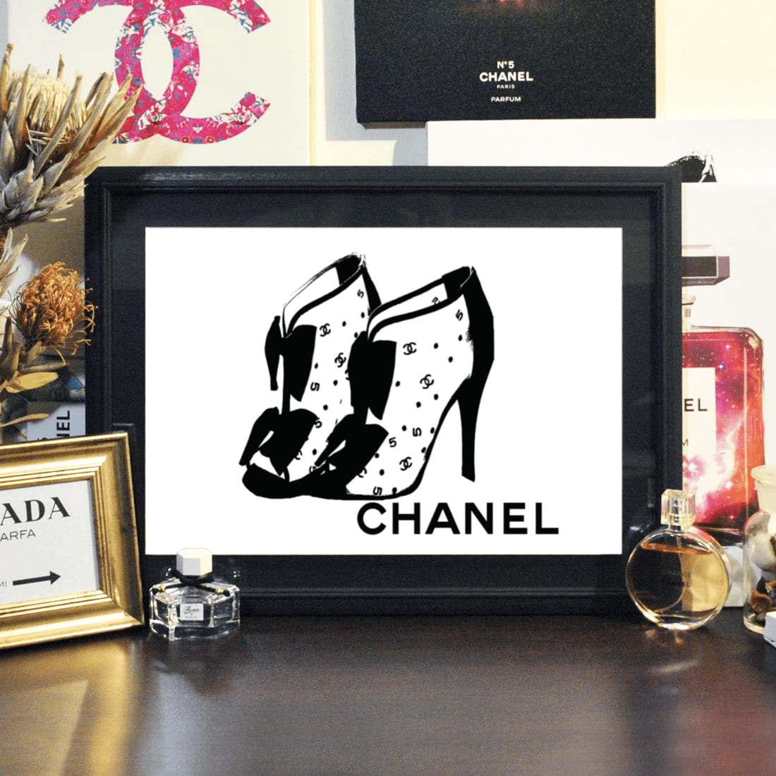 絵画, グラフィック  SS4h20off Grace cat Art CHANEL