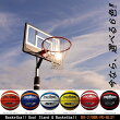 レイアップの練習もOK透明ポリカーボネート、ポールパッド付、オレンジリング、極太ネット【ポイント10倍】【送料無料】バスケットゴールBG-270BK-PD