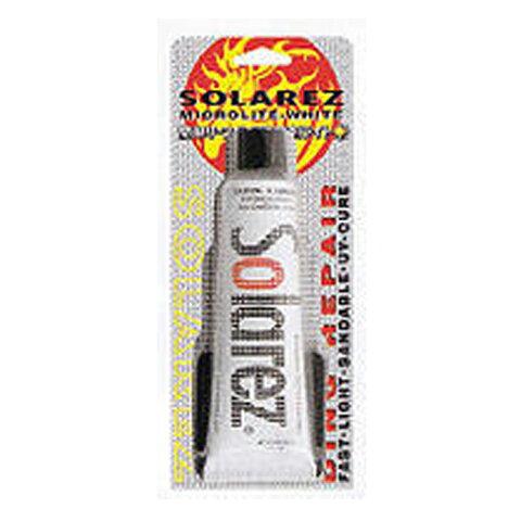 ソーラーレズワフー (SOLAR LEZ WAHOO)MICRO WHITE MINI マイクロライトホワイト ミニ 紫外線 硬化 サーフボード 修理用樹脂 (ポリエステル樹脂) 14g【お手軽にサーフボード修理。白い仕上り】郵送指定で送料380円−代引決済不可 レジン 料金 テープ PU
