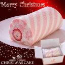 【クリスマス】洋菓子/ロールケーキ/米粉ロールケーキ生苺のキャンディーロール(15cm)