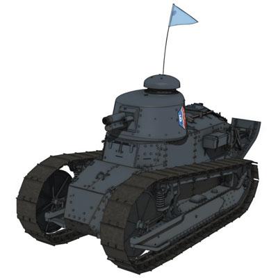 プラモデル・模型, その他 FT-17 BC 172