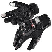 Yescomバイクグローブ夏用メッシュ手袋タッチパネルスマホ対応スポーツアウトドア自転車ブラックL