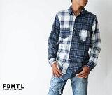 【FDMTL】fa17sh37 INDIGO CHECK SHIRT GRAY インディゴ染めクレイジーチェックシャツ 日本製 【日本製】【送料無料】【smtb-kd】【児島ジーンズ】【メンズ】【 FUNDAMENTAL(ファンダメンタル)】