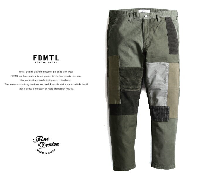 メンズファッション, ズボン・パンツ FDMTL fa20pn33b BORO PATCHWORK PANTS RINSE FUNDAMENTAL) 303234