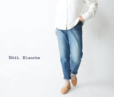 NOIL Blanche/テーパードアンクル5ポケットパンツ ユーズド加工