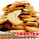 豆乳 おからクッキー 訳あり 約100枚1kg (固焼き) プレーン おから 豆乳クッキー【おからク...