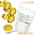 【リニューアル】しょうが紅茶 国産 ティーバッグ どっさり100包(1g×100...