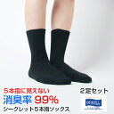 【送料無料】2足セット 靴下 レディース 消臭 臭わない 抗...