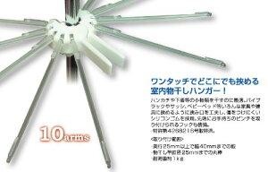 NHKまちかど情報室で紹介サれました!クリップスタイルハンガー ピッツ 10アーム CSH-W ワ...