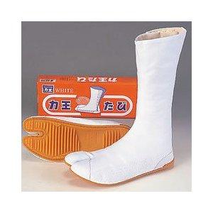 力王 ホワイト WF7(7枚コハゼ) 24.0〜28.0cm白の足袋。祭りに、よさこいに、仕事に。画像