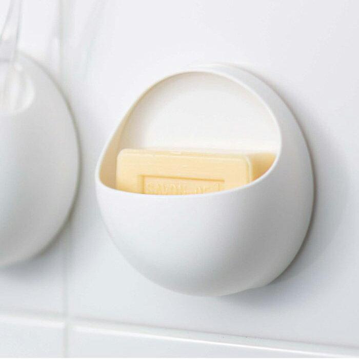 まあるいバスルームグッズ basupo(バスポ)シリーズ(PW1812)せっけんおき 石鹸入れ お風呂や洗面台の整理整頓に!