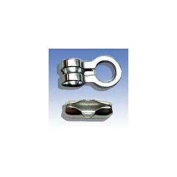 MM ステンレス(SUS304)ボールチェーン用カップリング(写真上) 2.7mm RCP-2.3適合チェーン2.3-R