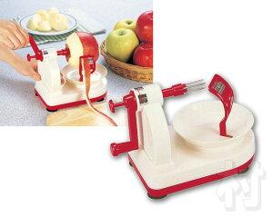 回すだけでカンタンにりんご、梨の皮がむけます!【送料無料】リンゴがシュルシュルと剥けます...