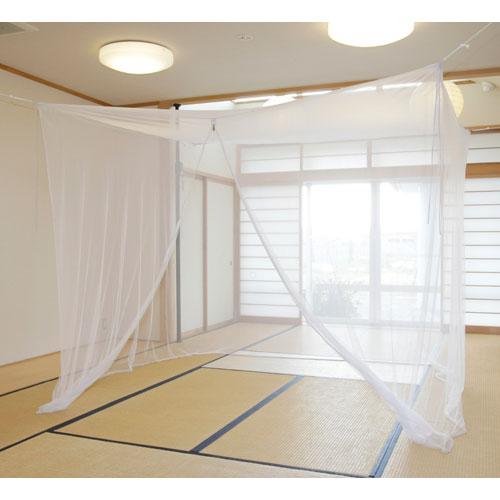 かいてき 清涼エコ蚊帳(かや) 4.5畳用めくり防止・留めフッ...