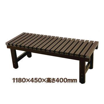入荷しました【smtb-TK】【頑張って送料無料!】炎天下でも座面が熱くなりにくい! 木風樹脂製天板アルミ製 濡れ縁(ベンチ)118×45cm JTNE-1245大型商品のため商品代引不可です