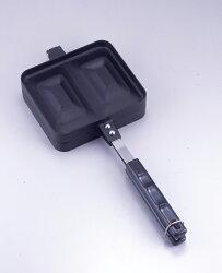 【レビューを書いて送料無料!】【安心の日本製】ブラックホットサンドメーカー20415ガス専用両面フライパン