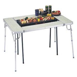 真ん中にコンロが置けるテーブル!42%OFF キャプテンスタッグ アルム マルチコンロテーブルM...