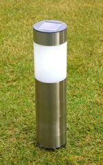 ステンレス LEDソーラーライトポール型 2本セット
