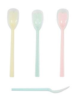 [努力,免運費!]貨到付款、時間日期指定為貓Point Of Sales對日本製造嘴邊客氣的匙子1具型大幅度37*長205mm粉紅·黄色·藍色KU-05P/KU-05Y/KU05B斷奶食物以及優格,果醬不可能