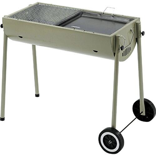BUNDOK ガーデンコンロ BD-378 BBQにもってこい!移動できるバーベキューコンロ。網も鉄板もついているので焼きそばもOK