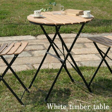 白木材テーブル