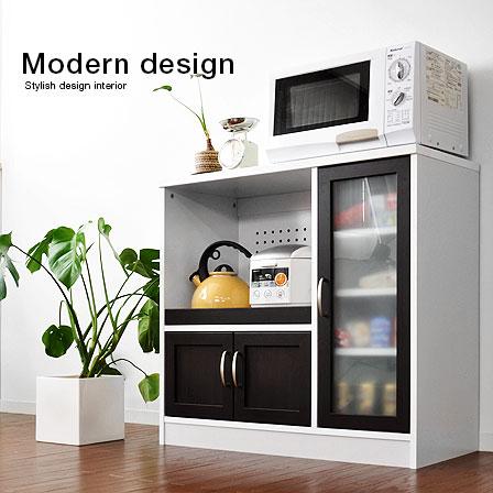 キッチン収納食器棚 クレイオ レンジ台 高さ82cm