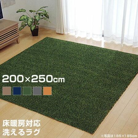 洗える タフト風 カーペット 床暖対応 ノベル 約200×250cm